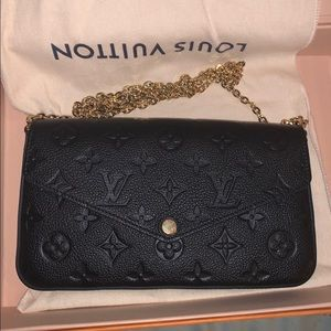 New Louis Vuitton Felicie GM Noir Black Crossbody